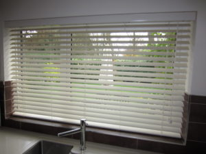 Wooden blinds by curtain creation surrey