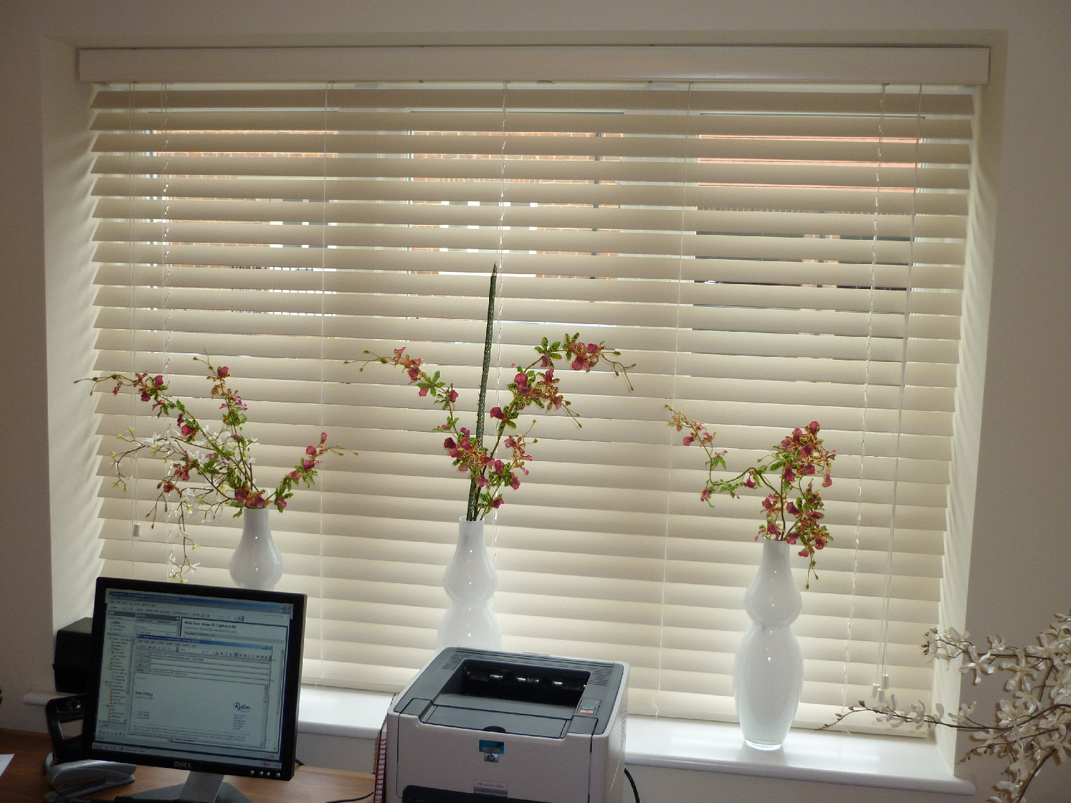 Wooden blinds by curtain creation in surrey